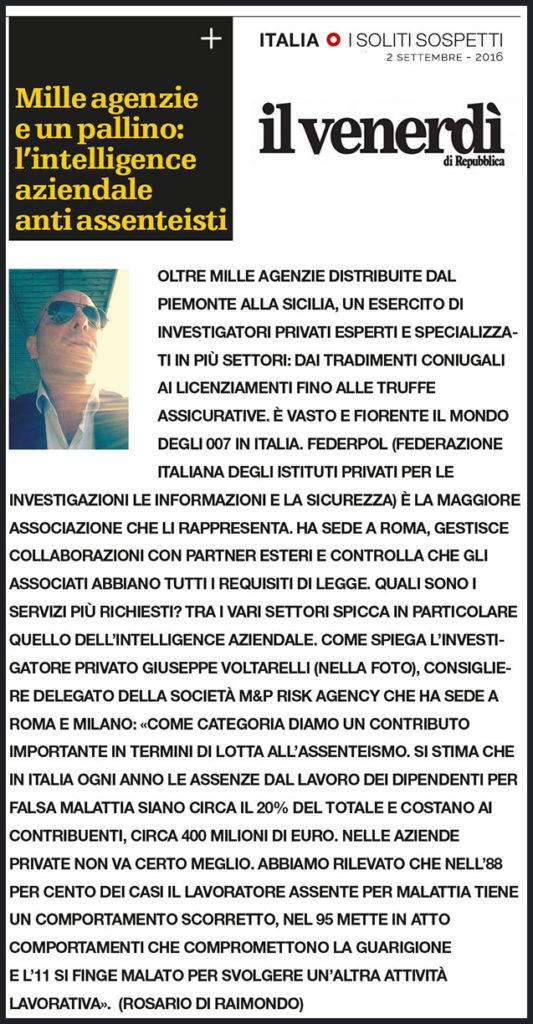 Giuseppe Voltarelli su Repubblica